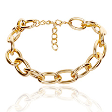 Chain Necklace, Jewelry, Chain, gold necklace