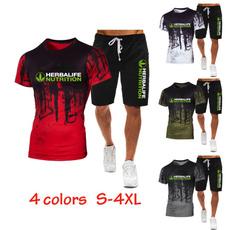 2pieceset, Shorts, Sleeve, Summer