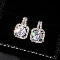platinum, DIAMOND, gold stud earrings for women, zirconstudearring