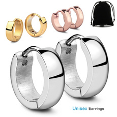 Steel, Jewelry, gold, hiphopearring