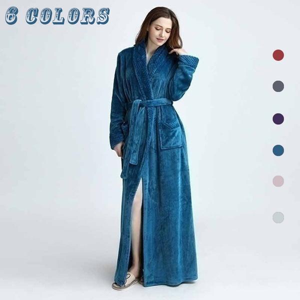 hoodedlongbathrobe, gowns, Fashion, flannelsleepwear