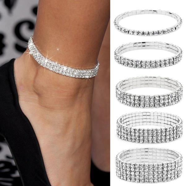 DIAMOND, ankletchain, beachanklet, Bracelet