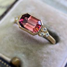 DIAMOND, wedding ring, gold, 18k gold ring