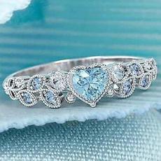 Sterling, Heart, Fashion, Women Ring