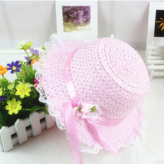 Summer, Fashion, Lace, baby hats
