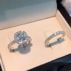 Sterling, DIAMOND, Women Ring, Engagement Ring