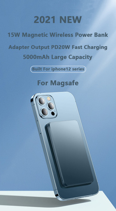 Mobile Power Bank, Powerbank, Wireless charger, Magnet
