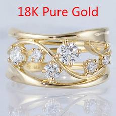 DIAMOND, zirconring, gold, rhinestonering