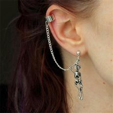 Goth, Jewelry, skull, asymmetric