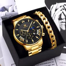 Chronograph, Fashion, business watch, Metal