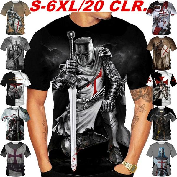 cooltshirtsformen, knightstemplar, Graphic T-Shirt, printed