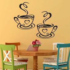 Decor, coffeecupsticker, diywallsticker, Kitchen & Dining