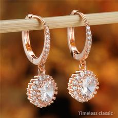 Crystal, Hoop Earring, Jewelry, gold