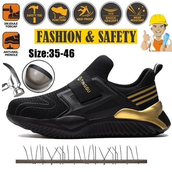 safetyshoe, steeltoedshoe, gold, nonslipshoe