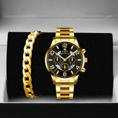 quartz, Waterproof Watch, business watch, gold