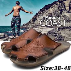 Fashion, leather, summer shoes, Men