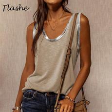 Summer, Vest, Fashion, Stitching