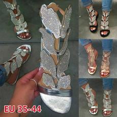 butterfly, Sandals & Flip Flops, Sandals, flat shoe
