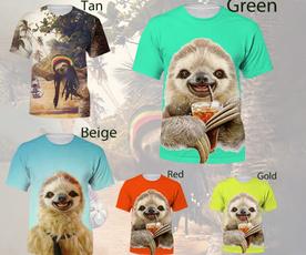 sloth, Fashion, Sleeve, Mens T Shirt