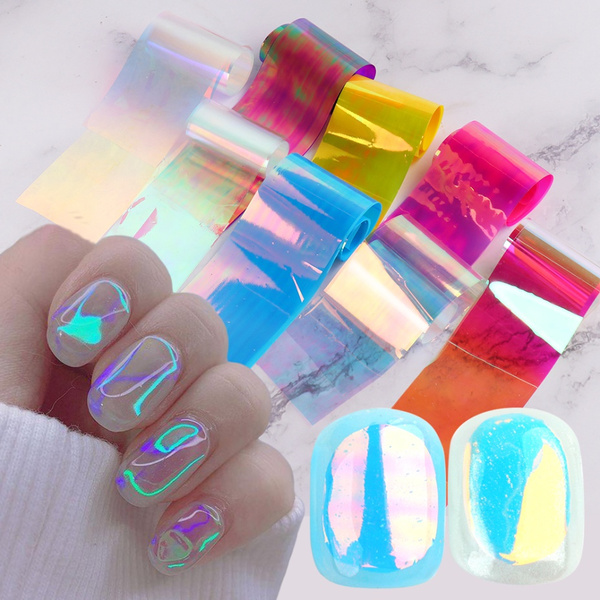 Nails, nail stickers, Holographic, aurorafilm