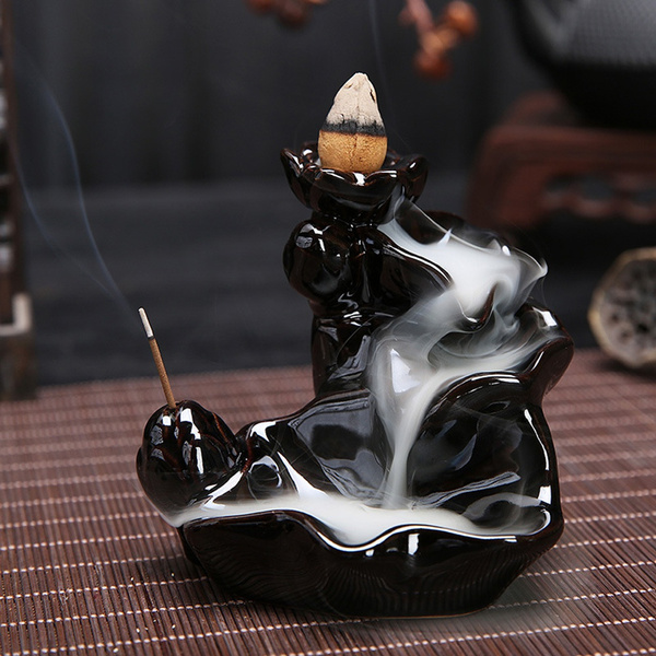 backflowincenseburnerholder, incenseburner, Ceramic, Handmade