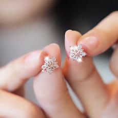 Silver Earrings, gold, Stud Earring, rose gold earrings