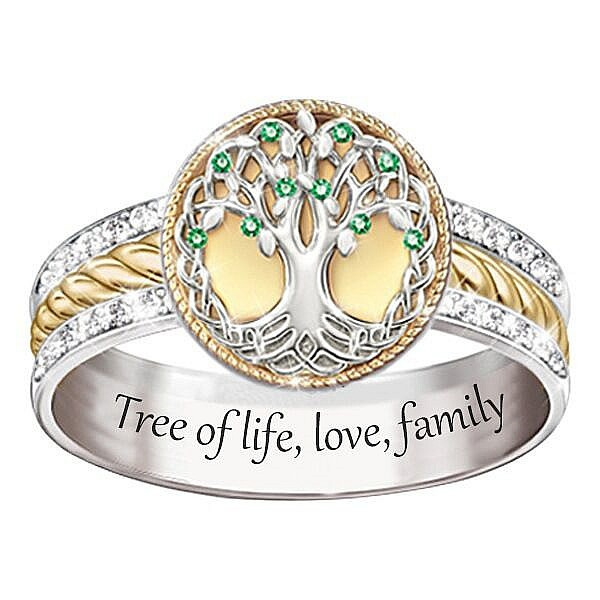 Sterling, Family, crystal ring, Love