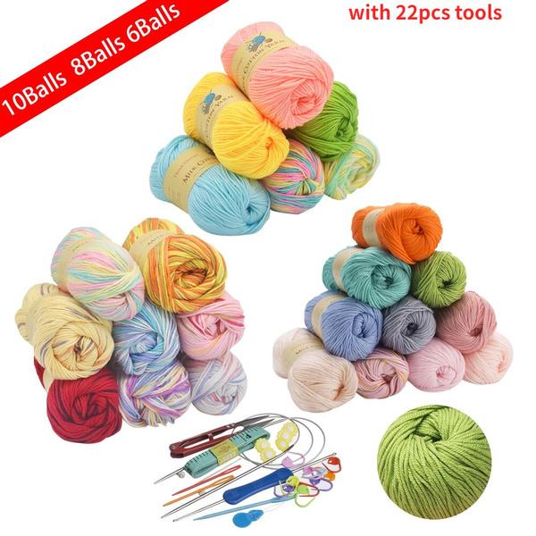 cottonyarn, Knitting, milkcottonyarn, Thread