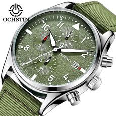 Chronograph, man's fashion watch, quartz, Nylon