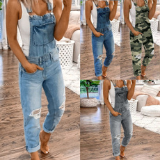 Summer, jeansoverallsforwomen, Waist, womendenimoverall