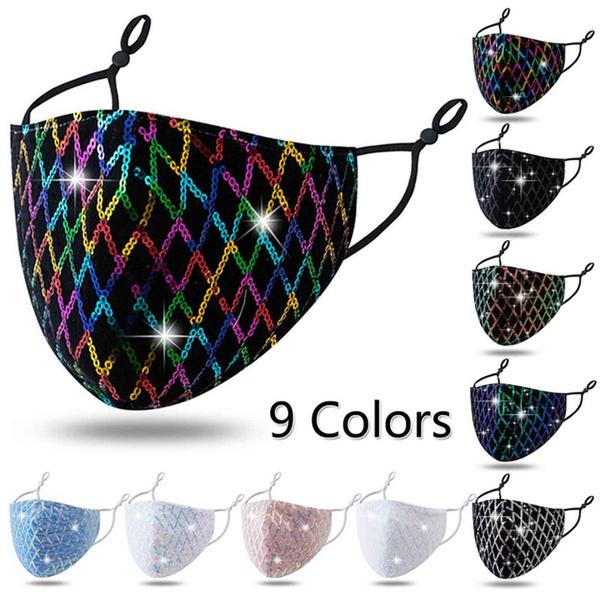 diamondfacemask, sequinmask, Jewelry, Earring