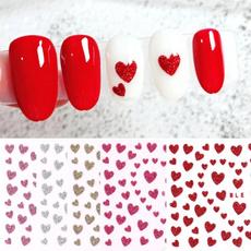 nail decoration, Heart, Glitter, art