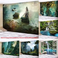 forestbuddha, waterfalltapestry, treetapestry, Wall Art