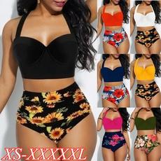 Summer, Plus Size, bathing suit, Swimwear