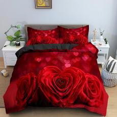 doubleduvetcover, 3pcsbeddingset, Flowers, Beds