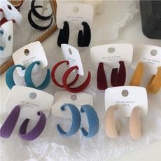 flockingearring, Hoop Earring, velvet, Jewelry