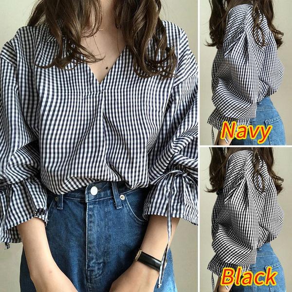 plaid shirt, shirtsforwomen, Plus size top, Shirt