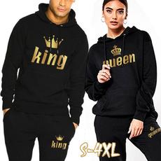 Couple Hoodies, King, Fashion, printed
