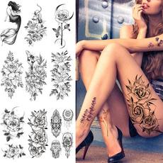 tattoo, Flowers, art, Waterproof
