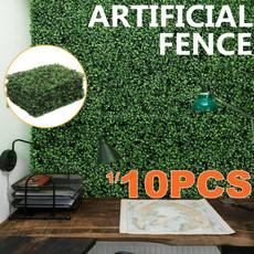 greenerydecorationhedge, Decor, 12pcs20x20artificialhedge, cabletiesboxwoodhedge