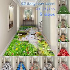 doormat, Flowers, Door, bedsidemat