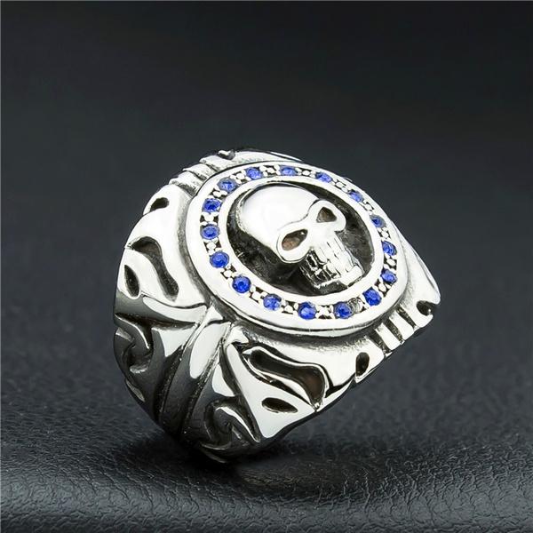 Fashion, Jewelry, skull, Silver Ring
