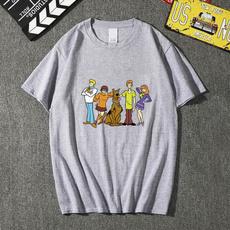 Summer, Plus Size, Cotton T Shirt, scoobydoo