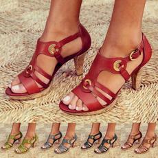 Summer, Plus Size, Peep Toe, sandals for women