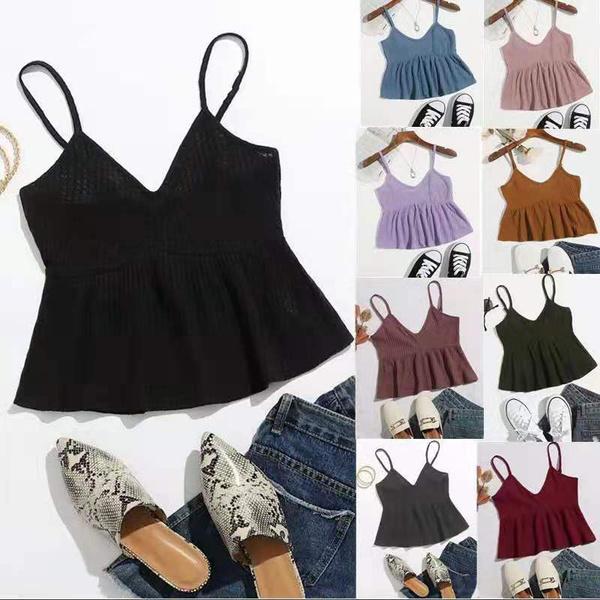 suspenders, Summer, Vest, Fashion