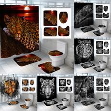 tigershowercurtain, Bathroom, Bathroom Accessories, bathroomdecor