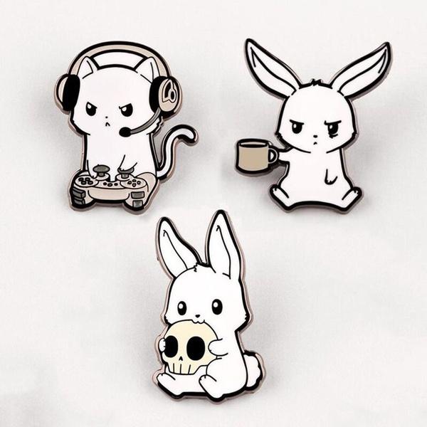 cute, Fashion, rabbit, Pins