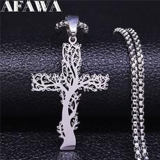 Steel, silverstatementnecklace, Chain Necklace, Jewelry