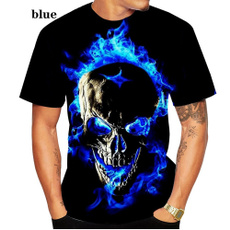 Fashion, Shirt, skull, summer t-shirts