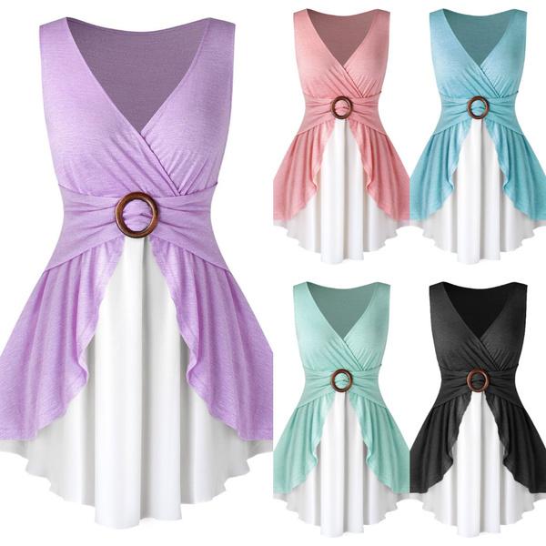 Women Vest, Plus Size, tunic, Summer